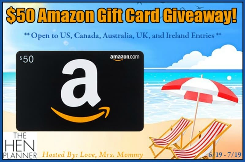 Enter for a chance to win a $50 Amazon Gift Card in our Hen Planner Giveaway!