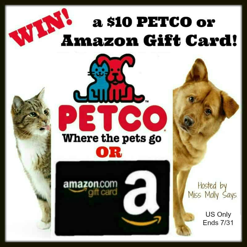 Enter for a chance to #win a $10 PETCO Gift Card OR Paypal Cash in our 'Summer Vibes' Giveaway Hop! US Only Ends 7/31