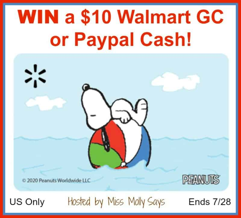 Enter for a chance to #win a $10 Walmart Gift Card or Paypal Cash! (Winner's choice)