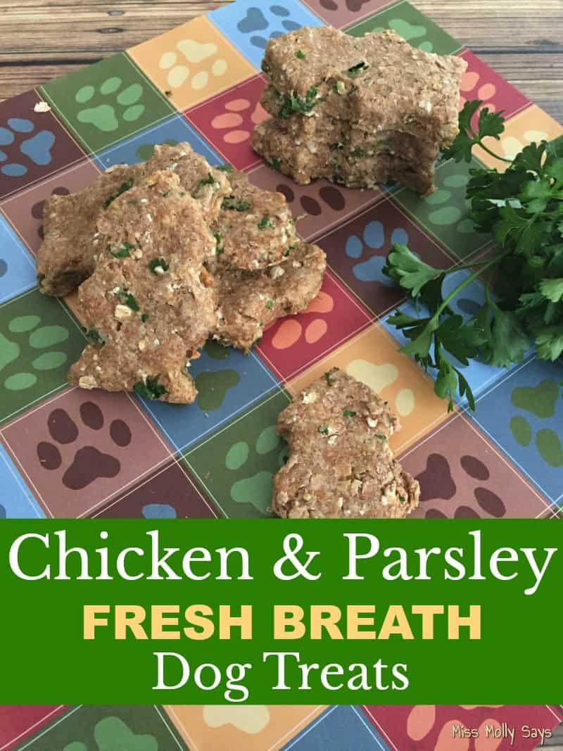 Chicken & Parsley Fresh Breath Dog Treat Recipe