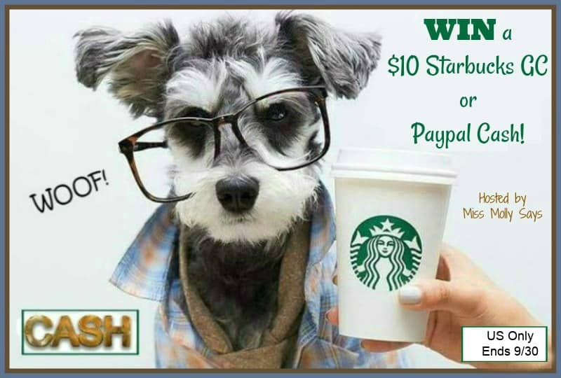 Enter for a chance to #win a $10 Starbucks Gift Card OR Paypal Cash in our #FabulousFallHop!