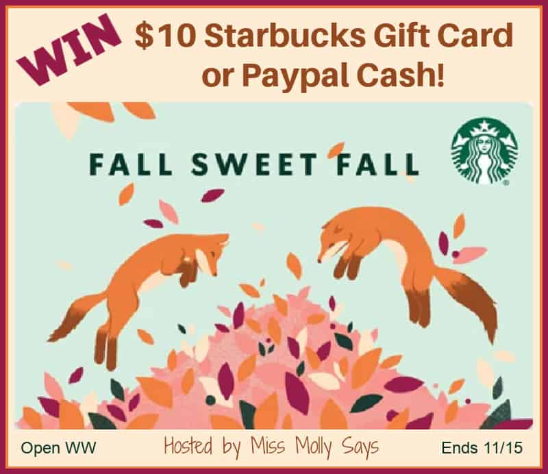 Enter for a chance to #win a $10 Starbucks Gift Card OR Paypal Cash in our 'Lucky Leaf' Giveaway Hop!