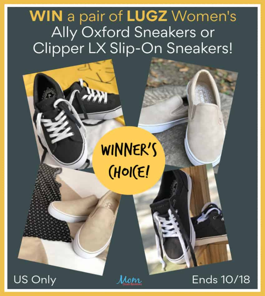 Love stylish comfy sneakers? Enter for a chance to win a pair of Lugz Women's Ally Oxford or Clipper LX Slip-On Sneakers! Winner's choice!