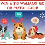 Are you ready for Christmas? Enter for a chance to #win a $10 Walmart GC or Paypal Cash in our 'Holly Jolly' Giveaway Hop!