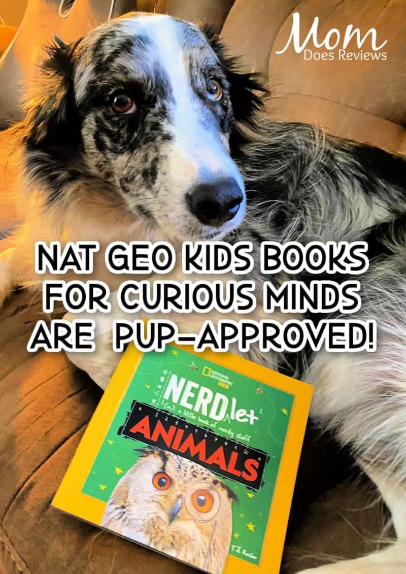 Bean with Nat Geo book