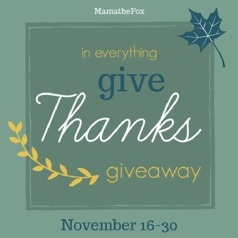 In Everything Give Thanks Giveaway Hop 2020