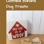 Peanut Butter Oatmeal Banana Dog Treats
