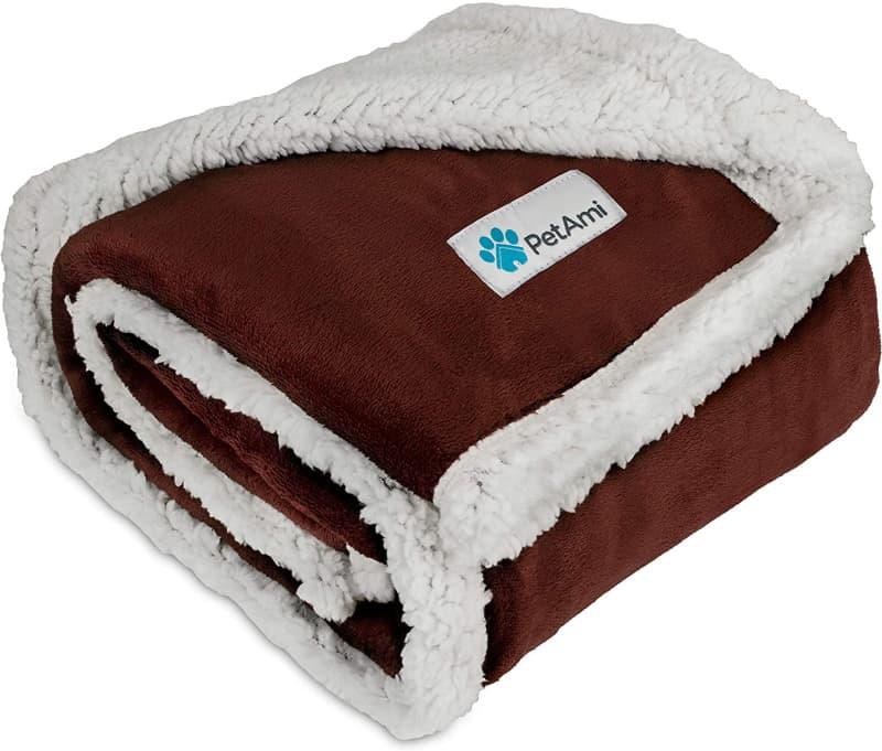 PetAmi Premium Plush Sherpa Pet Blanket