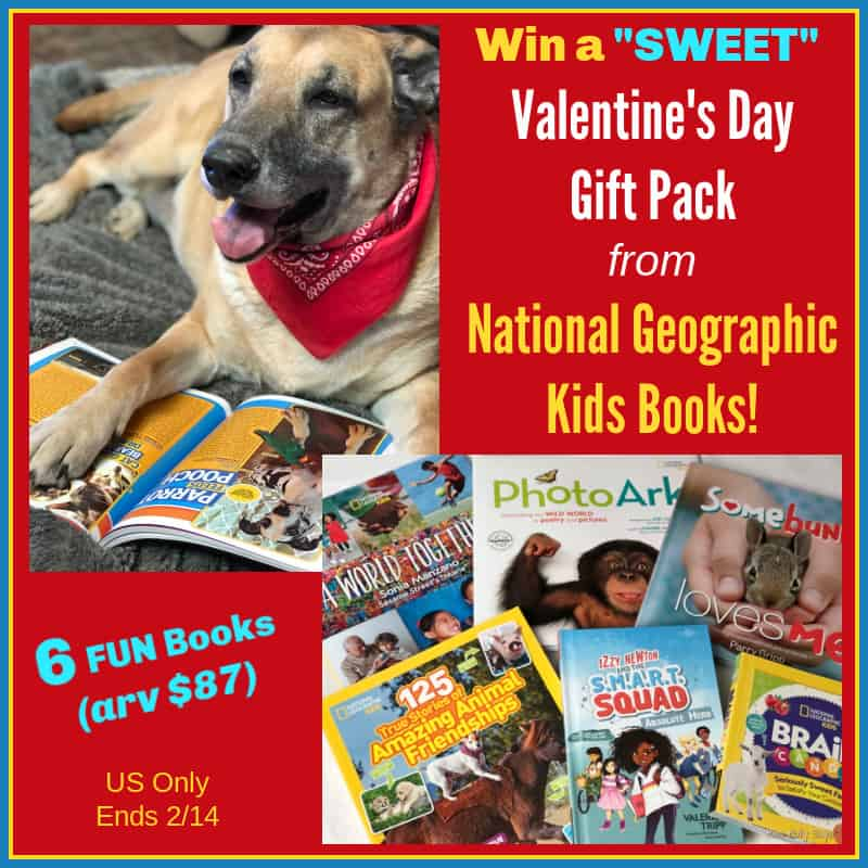 National Geographic Kids Books Valentine's Day Gift Pack Giveaway