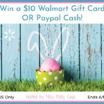$10 Walmart Gift Card OR Paypal Cash giveaway button - Honey Bunny Hop