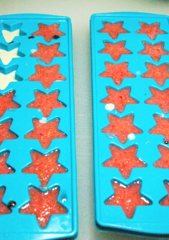 Red White & Blue Dog Treats process