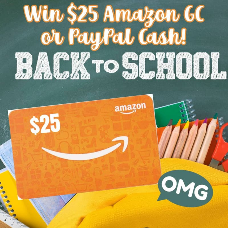 $25 Amazon or Paypal Cash Giveaway