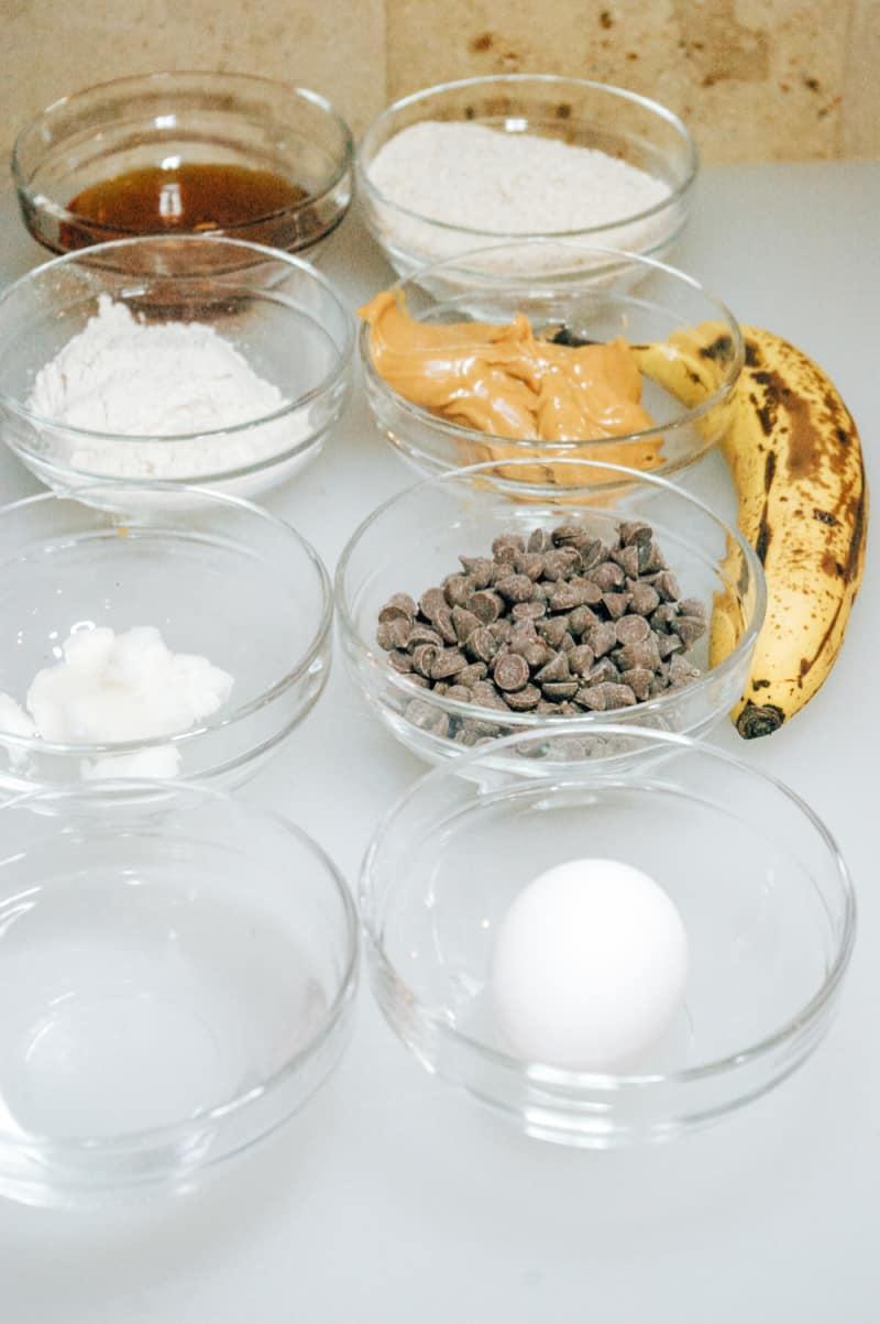 Peanut Butter Banana Pupcakes ingredients needed