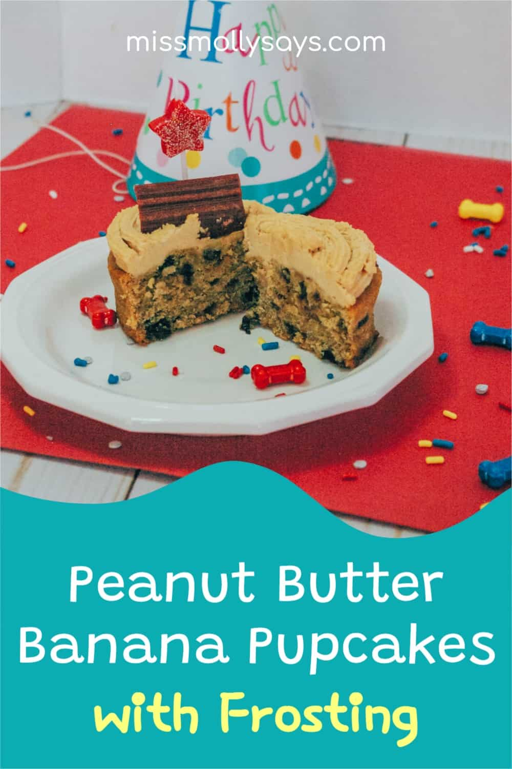 Woofalicious Peanut Butter Banana Pupcakes with Frosting Your Pup Will Love!