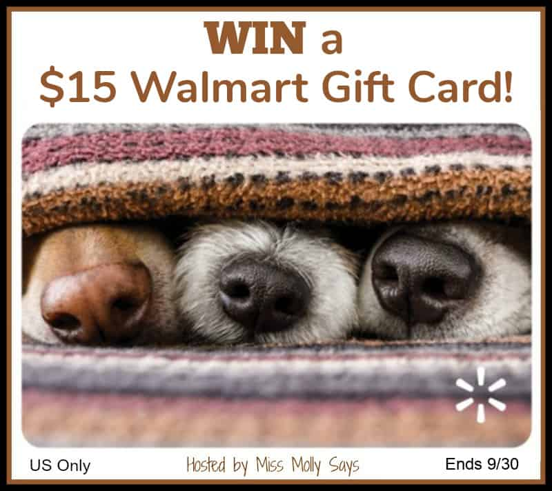 $15 Walmart Gift Card - puppy noses
