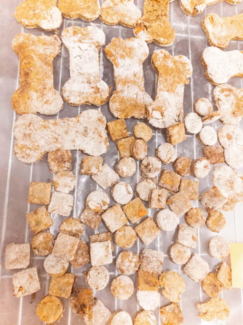 Carrot Dog Treats process